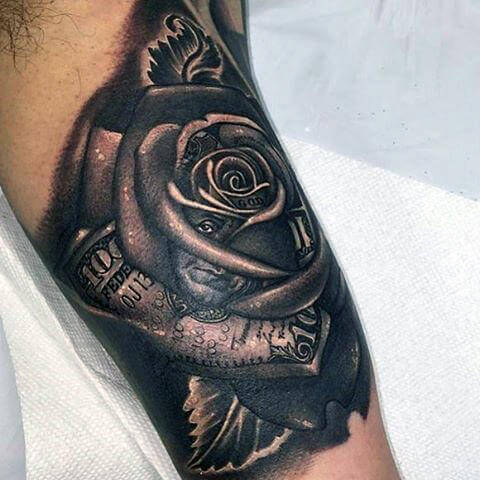 Top 55 Best Rose Tattoos for Men in 2020 (With images