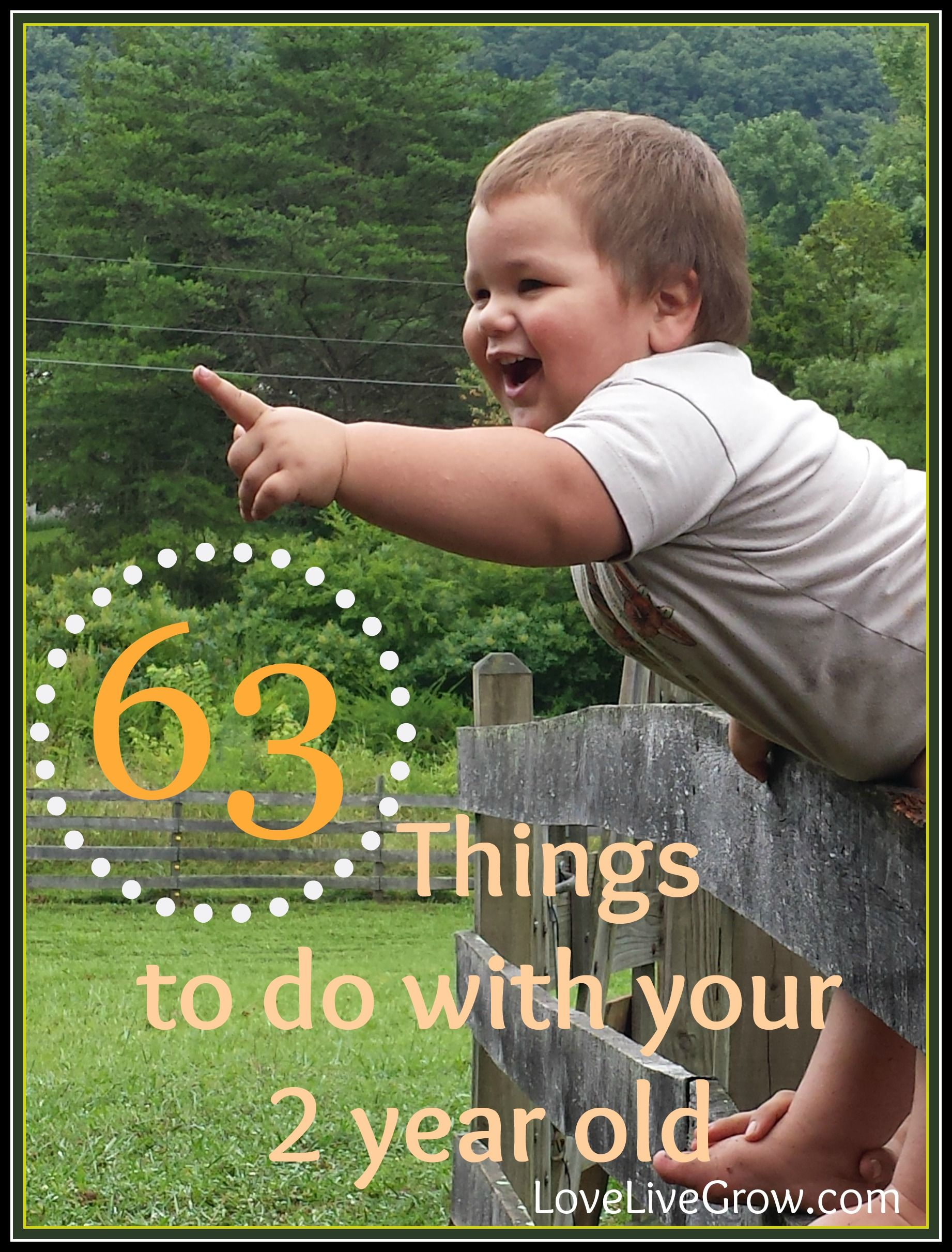 63 Things to do with Your 2-Year-Old | Toddler activities ...