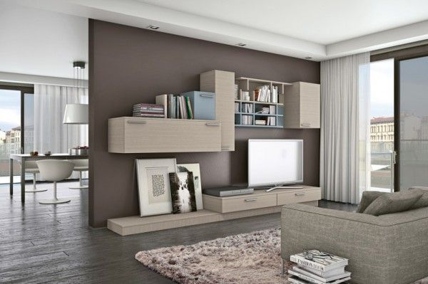 furniture, Interior Wall Units Design Ideas With Living Room Bookshelves  Design Ideas And Brown Furniture Ideas With Wooden Flooring And Bro.