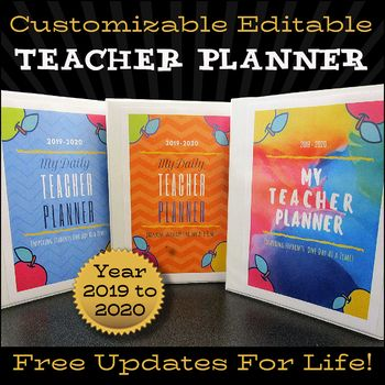 Teacher Planner 2019-2020 EDITABLE Teacher Binder FREE Updates for LIFE! ⭐⭐⭐⭐ #teacherplannerfree