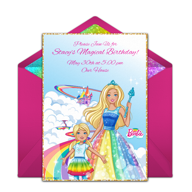We Love This Free Online Barbie Birthday Invitation Personalize And Send To Guests Via Text Email Or Social Media