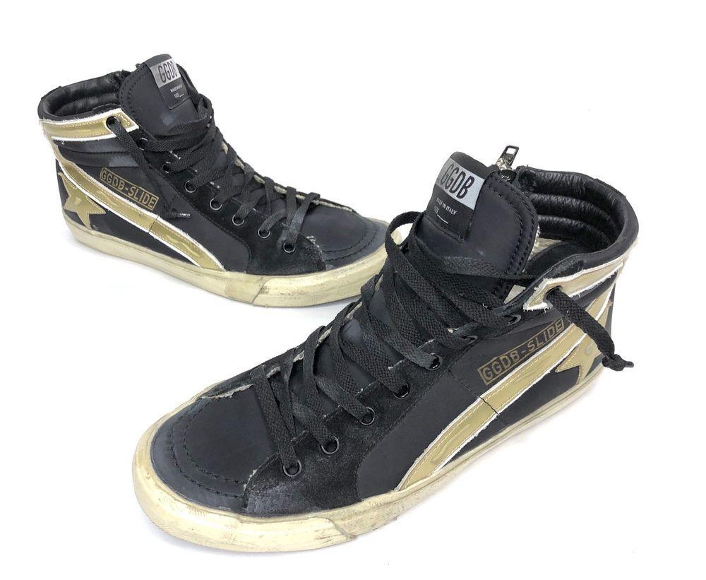 bbe446d94de8c Golden Goose Leather Hi Top Super Star Sneakers Womens Size 9 / 39 ...