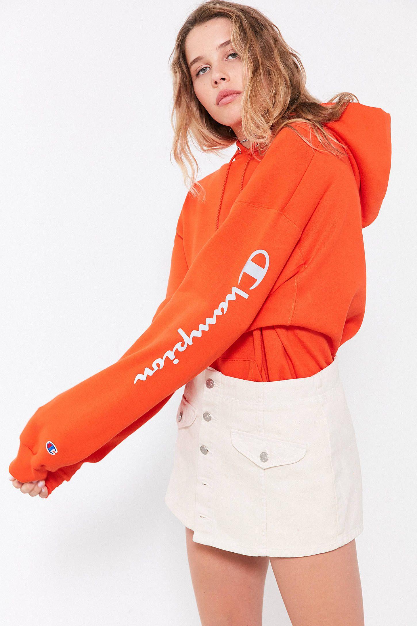 5058bb419cb Slide View  5  Champion + UO Powerblend Reflective Hoodie Sweatshirt ...
