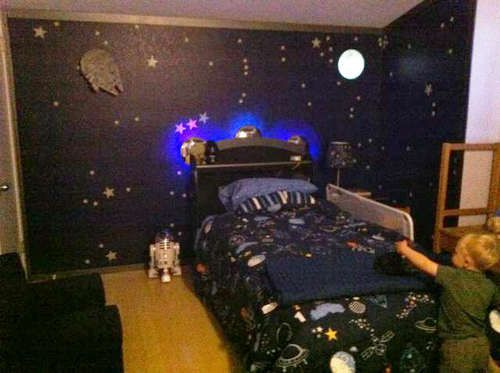 Space Station Dock Bedroom With Light Up Spaceship Bed Space Themed Bedroom Space Themed Room Space Room