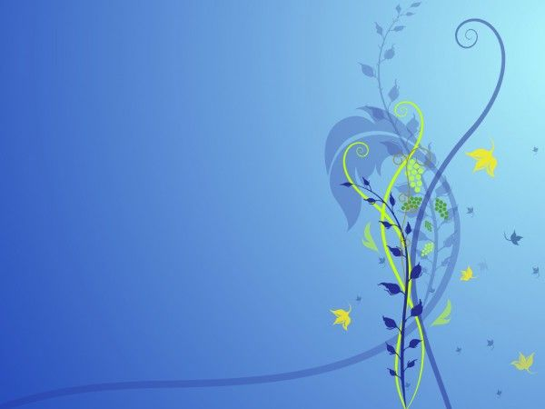 Blue Flower Abstract HD 3D \ Abstract Wallpapers Pinterest - winter powerpoint template