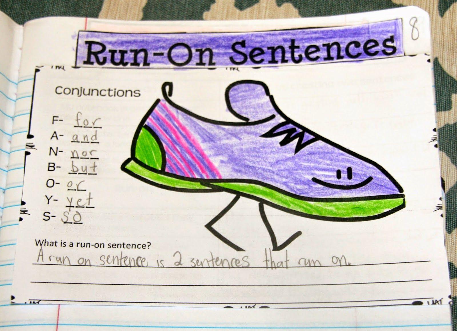Writing Mini Lesson 4 Run On Sentences Rockin Resources Writing Mini Lessons Run On Sentences Elementary Writing