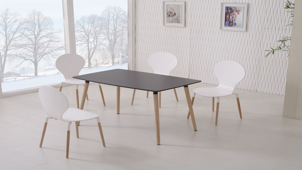 Black Dining Table And Chairs Weiße stühle, Schwarzer