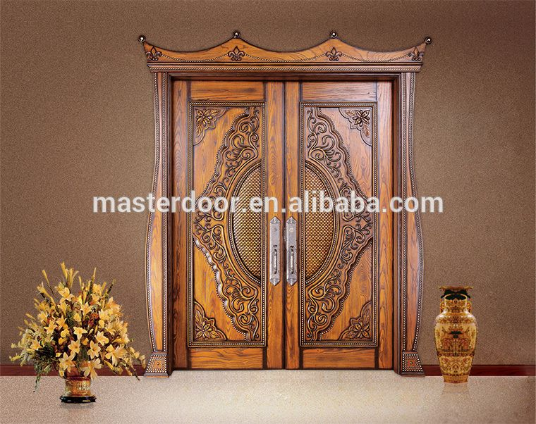 Indian house front safety door design solid wood double for House main double door designs
