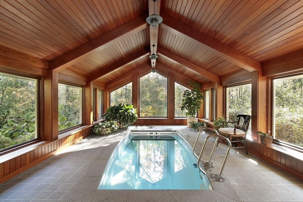 45 Screened In, Covered and Indoor Pool Designs | More Indoor ...