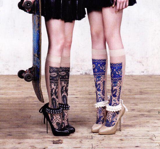 Delicate patterned socks