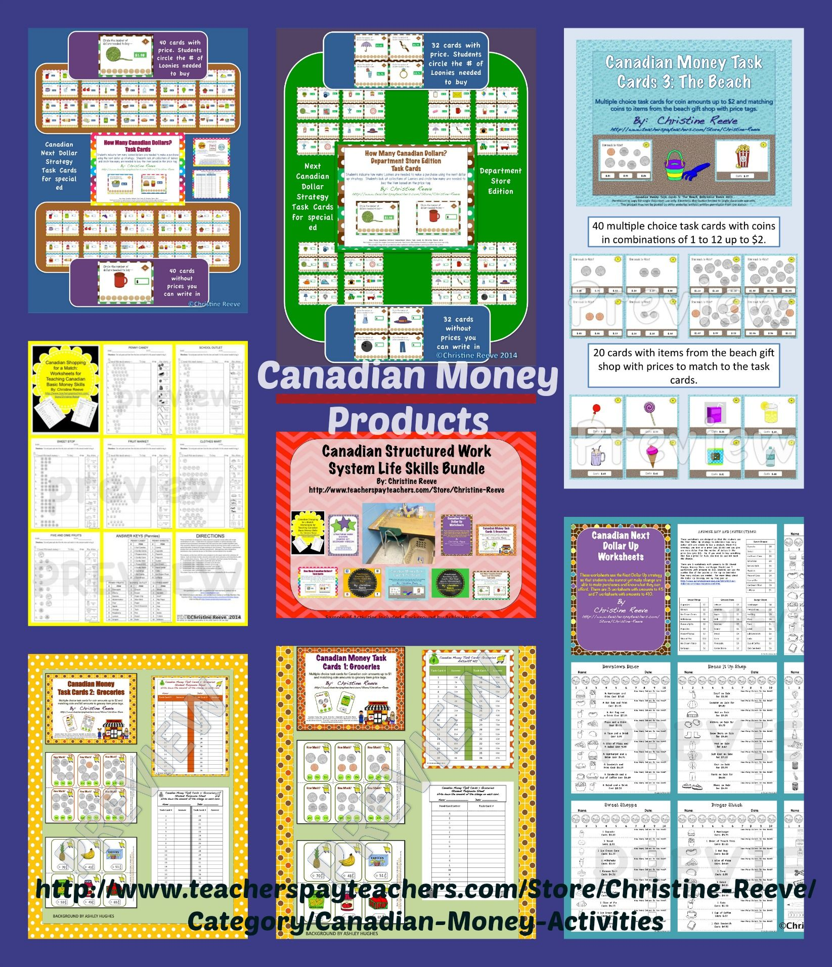 I Have A Variety Of Canadian Money Activities Available In