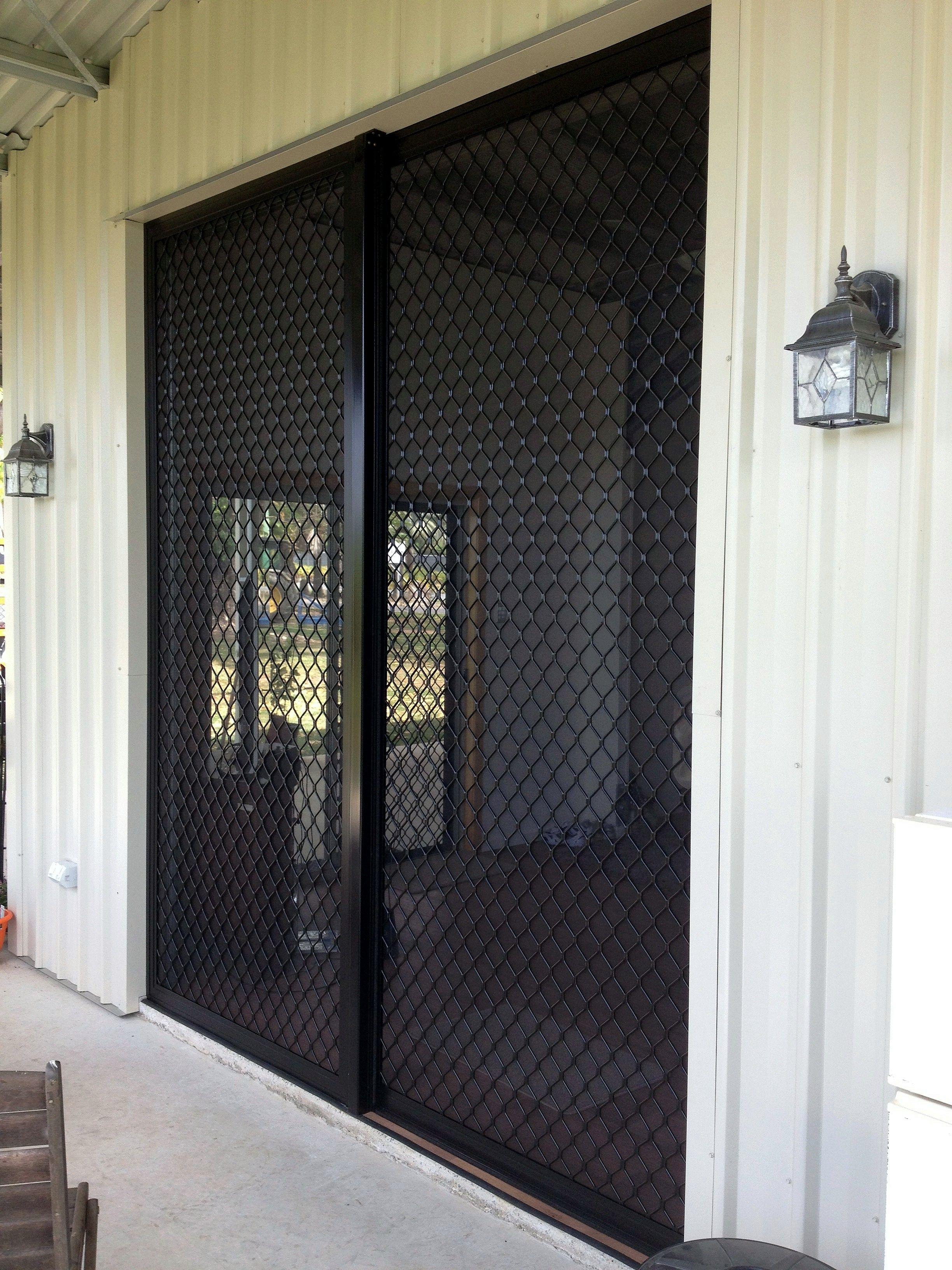 Sliding Security Screen Doors Diamond Grille Pinterest