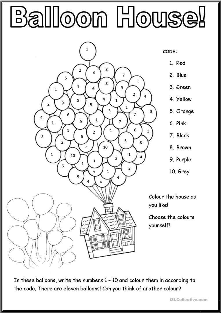 Balloon House Worksheet Free Esl Printable Worksheets Made By Teachers English Activities For Kids English Worksheets For Kids English Lessons For Kids