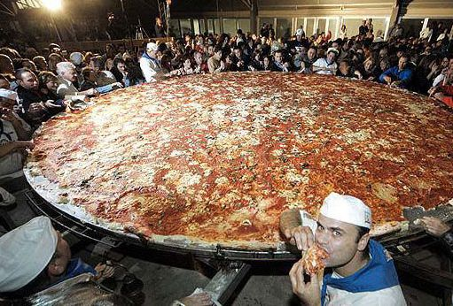 Worlds Largest Pizza The worlds largest pizza was created ...