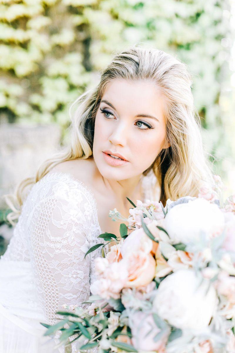 Fairytale Wedding Ideas with Lace Wedding Dress, Peony and