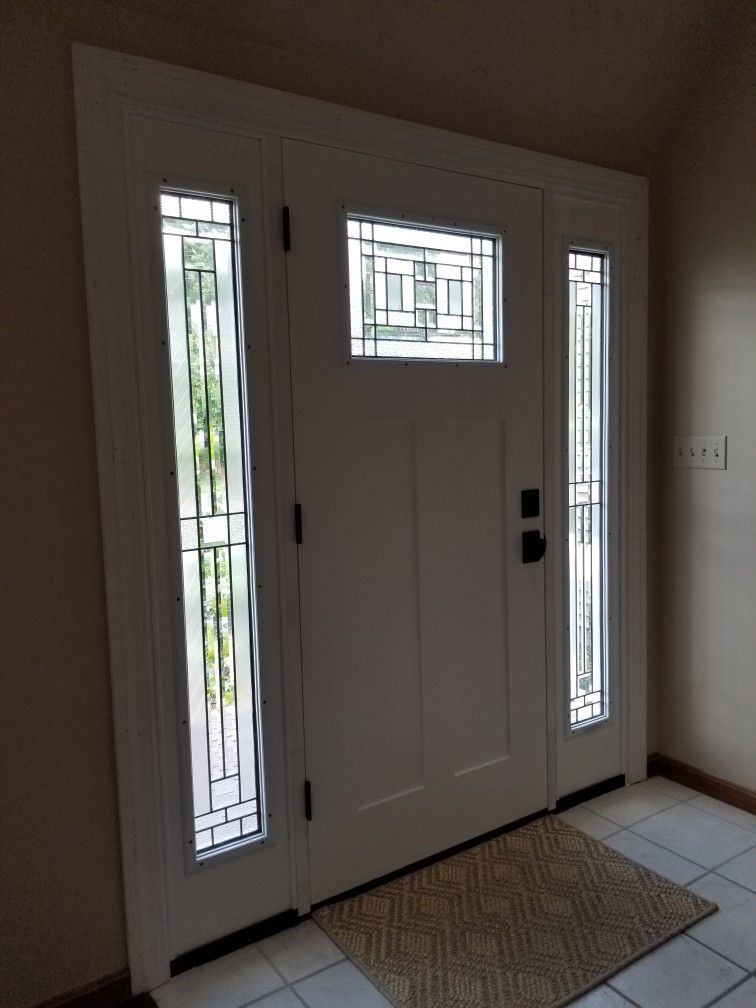 Jeld Wen Cordova Craftsman Door With Full Sidelights Craftsman Door Florida Home House