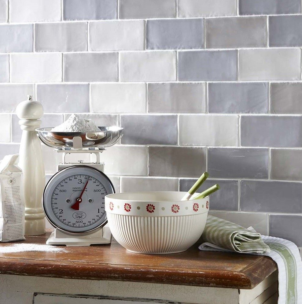 Laura Ashley Artisan French Grey Field 15 X 7 5 Cm Tiles