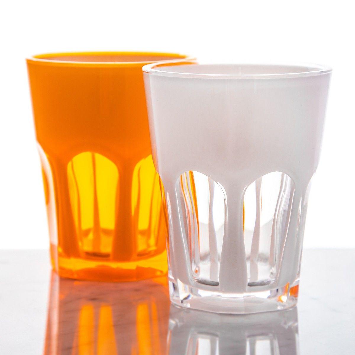 mario luca giusti acrylic tumblers 8oz drinkware dining kitchen
