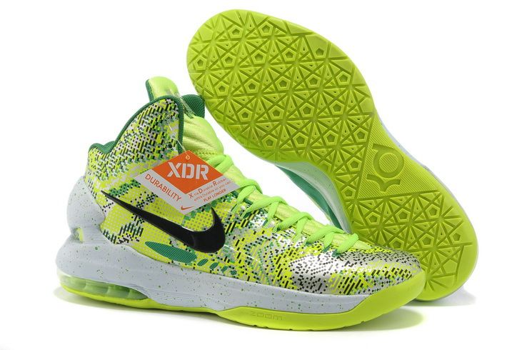 Sale Discount Nike Zoom KD 5 iD Offers New Graphic Pattern Christmas green Basketball  Shoe Sports Shoes Store