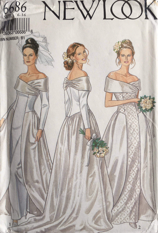New Look 6686 Sewing Pattern Vintage Uncut Etsy In 2021 Vintage Wedding Dress Pattern Wedding Dress Sewing Patterns Sewing Wedding Dress [ 3000 x 2043 Pixel ]