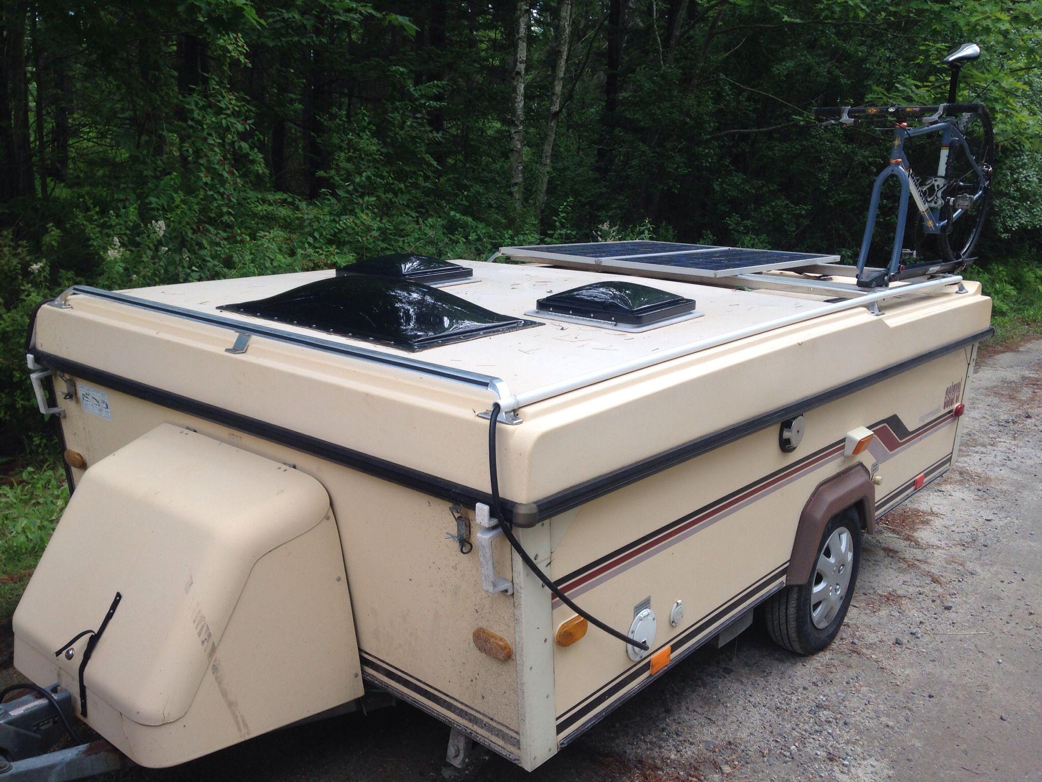 Esterel Folding Camper With Solar Panels And Bike Rack Folding