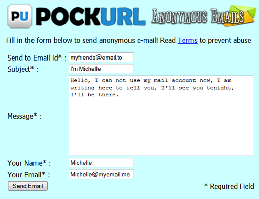 Anonymous Emails App - PockURL | Conduit | FREE APPS | Free