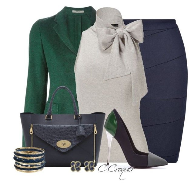 Cap Toe Pumps Outfit by ccroquer on Polyvore featuring polyvore, fashion, style, Ralph Lauren, Boglioli, L.K.Bennett, Mulberry, Jules Smith and Proenza Schouler