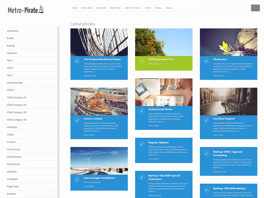 metro-pirate — ThemeIsle   Blogging free WordPress themes   Pinterest