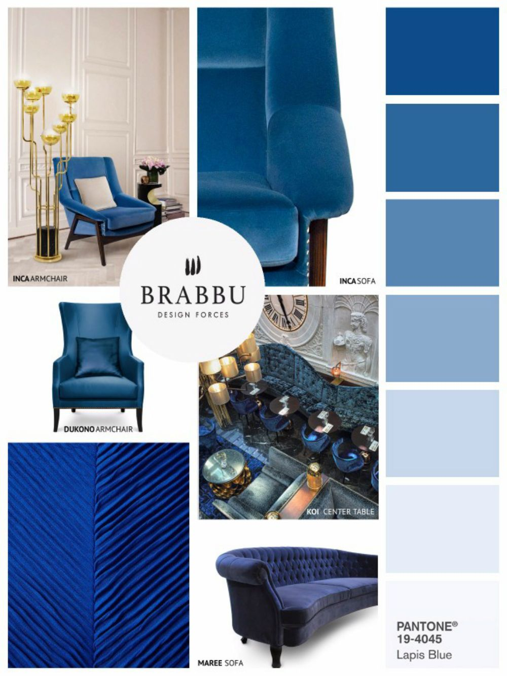 at my design agenda we particularly love blue so we are pretty happy with this color trend