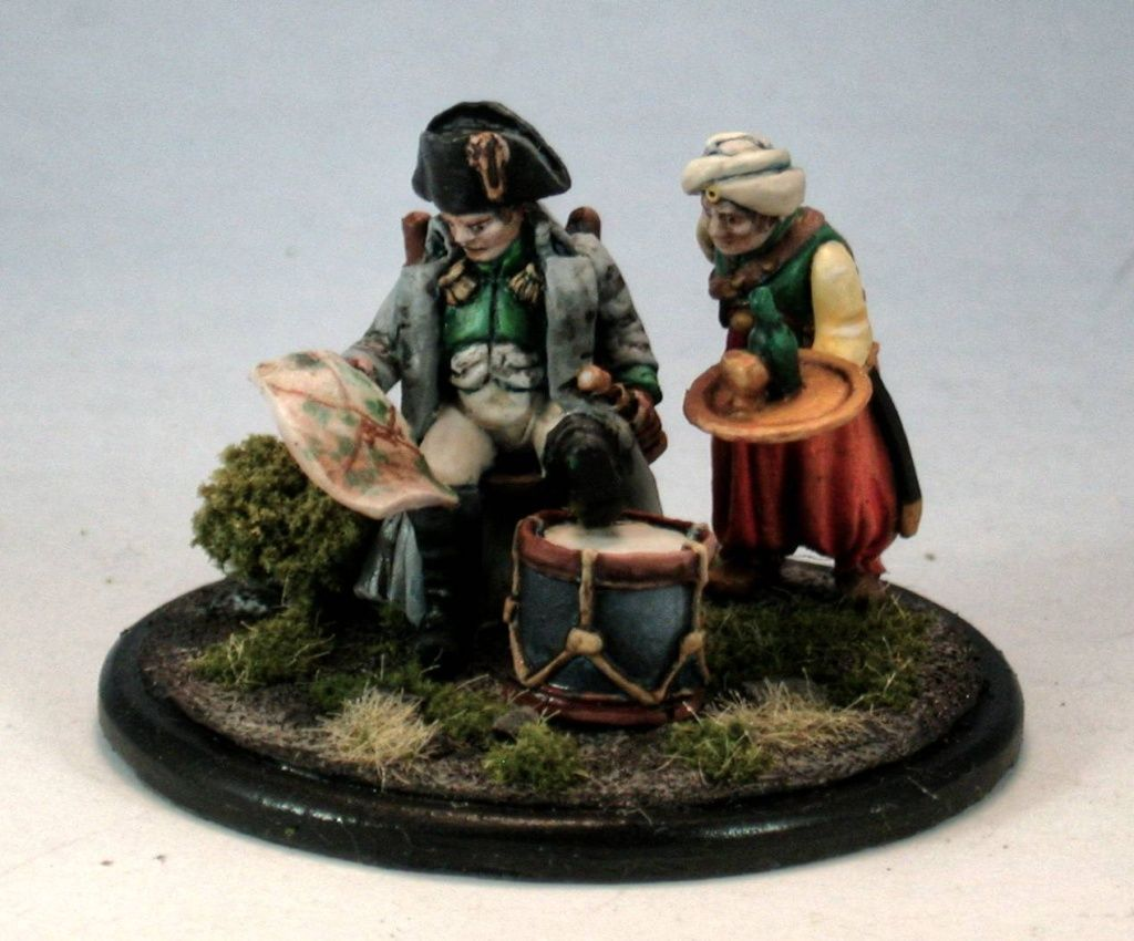 Wargames Illustrated Napoleon and Roustam miniatures. I finished these last night and now have images up at http://miniaturewars.com. I like the figures and enjoyed painting them.