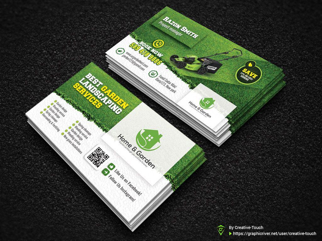 Garden Landscape Business Card Template Fully Editable Tem Regarding Landscaping Business Card Landscaping Business Cards Landscaping Business Card Template