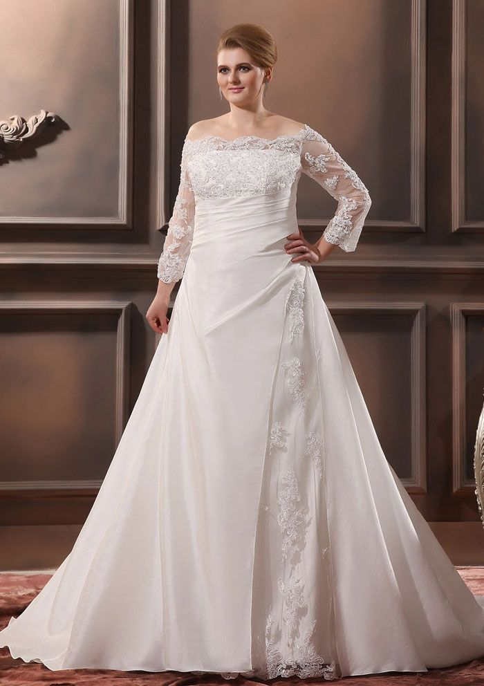 Plus Size Wedding Dresses With Sleeves | vestidos novia ...
