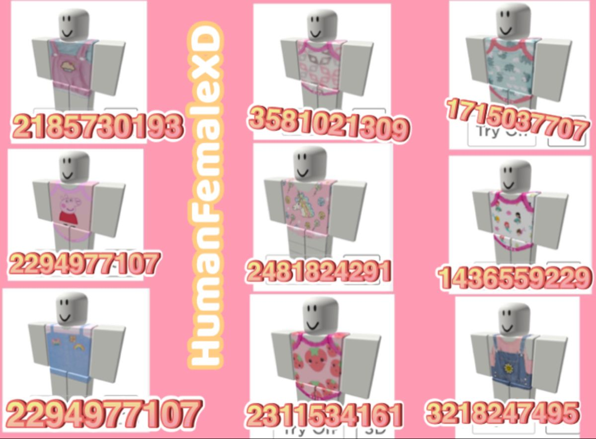 Roblox Baby Girl Clothing Codes In 2020 Unique House Design Roblox Pictures Coding Clothes