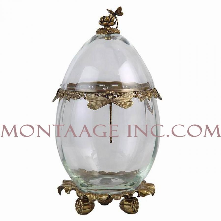 Montaage GLASS AND BRASS  12646113  Antique Brass Boxes ACCESSORIES$550.00