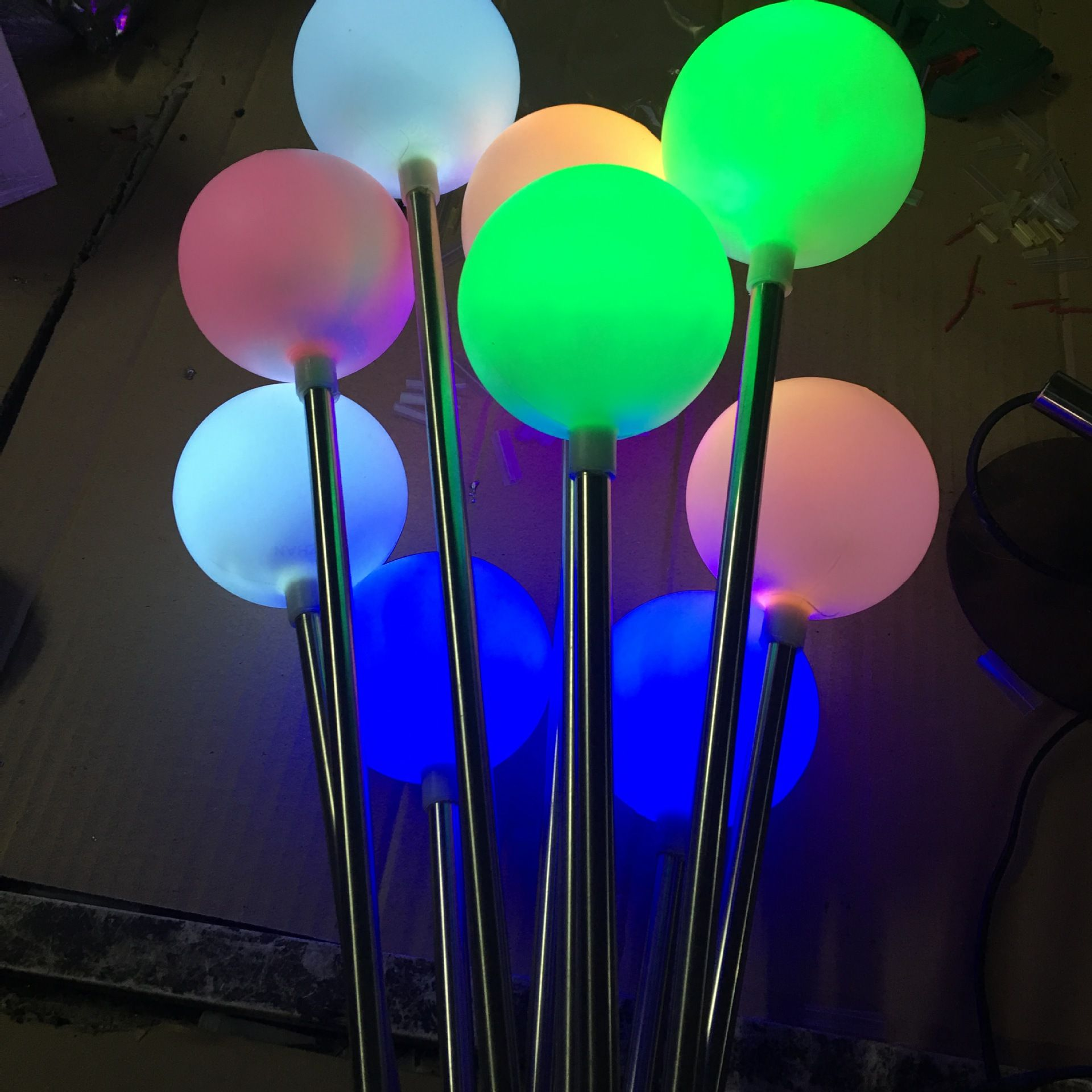 Decorative Ball Lights New Style Waterproof Reed Light Stainless Steel Floor Lamp Outdoor