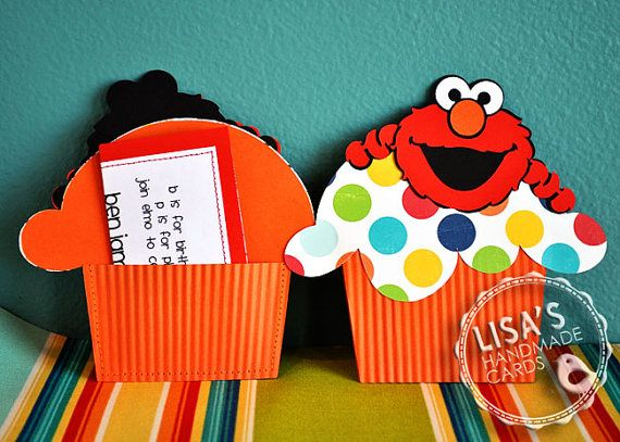 Custom Elmo Birthday Invitations Handmade by by LisasHandmadeCards, $27.50
