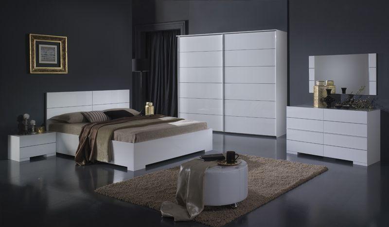 chambre garda - Chambre A Coucher Blanc Laque Brillant