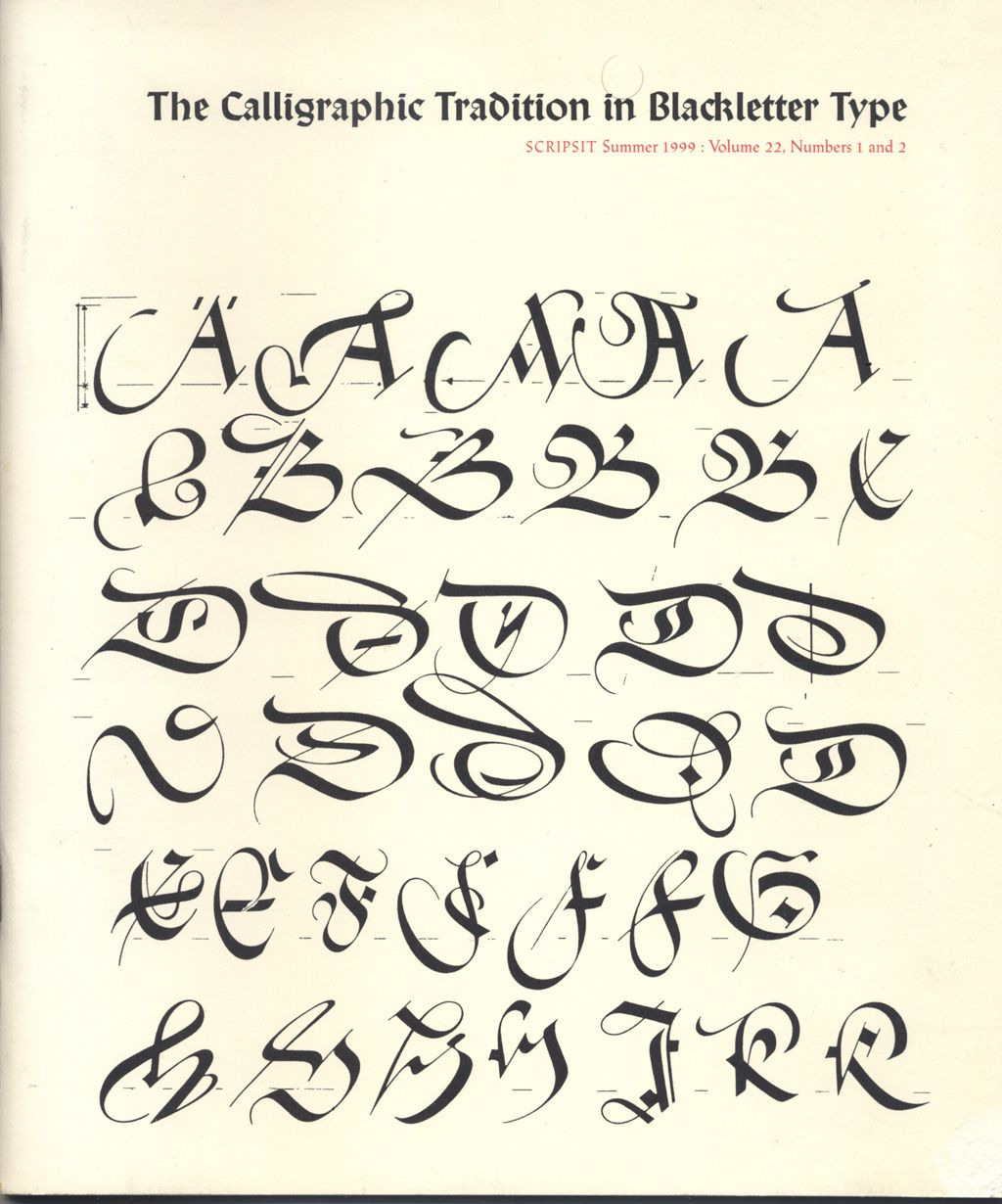 Paul Shaw Letter Design The Calligraphic Tradition In