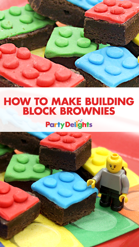 How to Make Building Block Brownies | Lego themed party, Easy ...