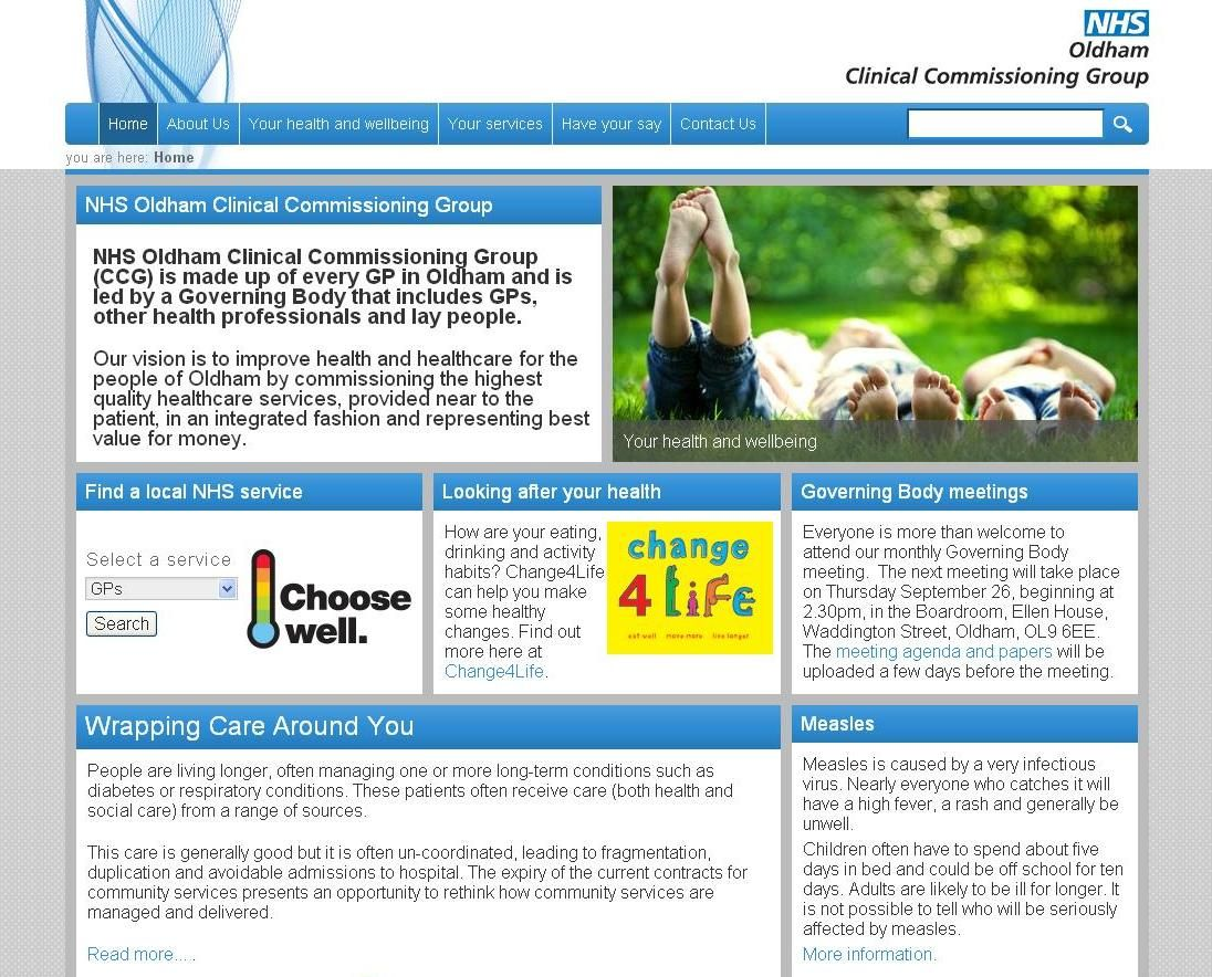 Our website www.oldhamccg.nhs.uk Health professionals