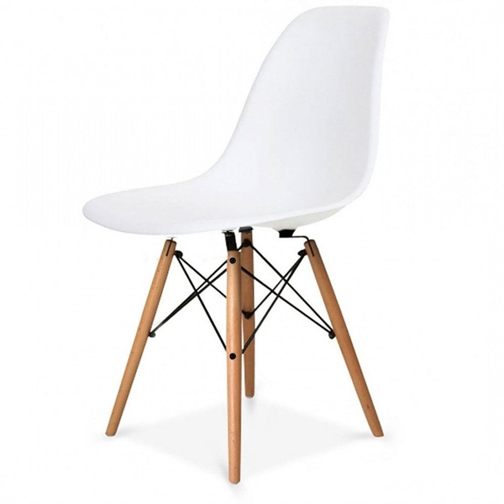 Eames Style Plastic Tub Chair White And Other Colours Inspired