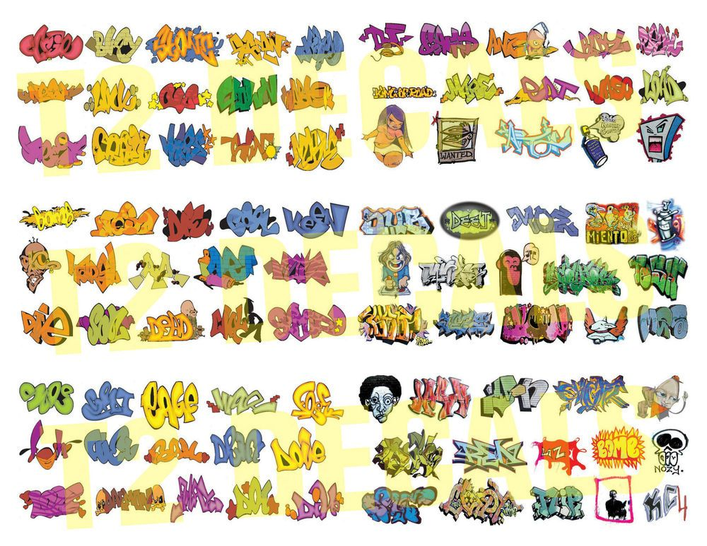 Ho scale custom graffiti decals mega sheet 3