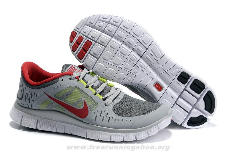 buy online 63ae0 77c70 Vente Hommes Nike Free Run 3 Blanc Cool Gris Fuchsia