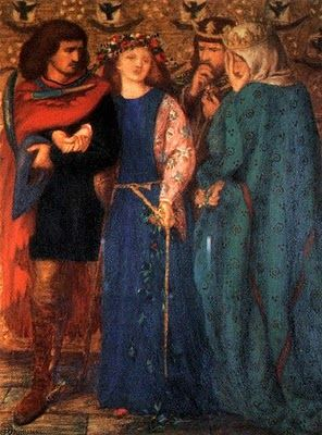 The First Madness of Ophelia, 1864, Rossetti