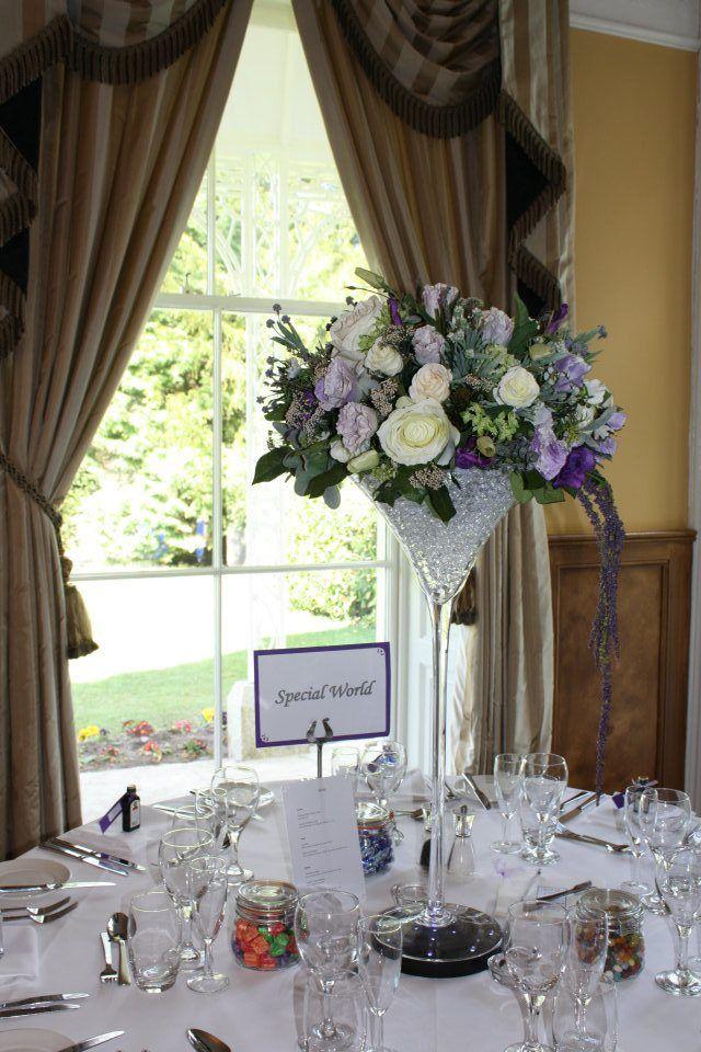 Purple Wedding Flower Centrepieces By Flourish To Hire Silk Flowers
