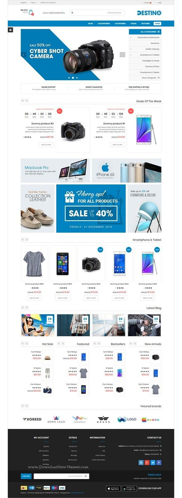 Destino Responsive Multi Purpose Html5 Template Bootstrap