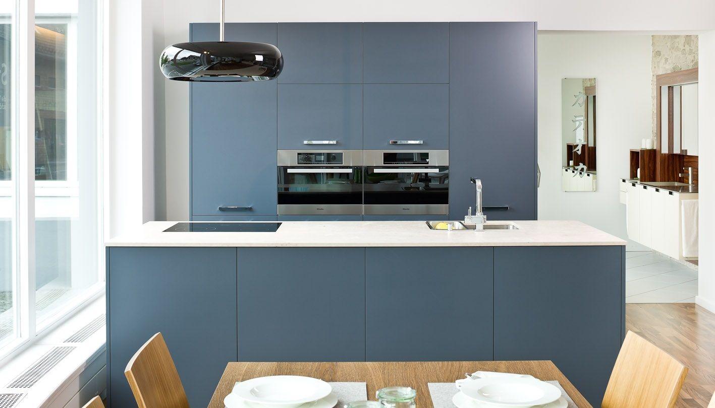 Die City Inselkuche Kuche Blau Kuchen Ideen Farbe Wohnkuche