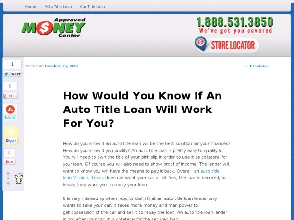 How Do You Know If An Auto Title Loan Will Be The Best Solution For Your Finances How Do You Know If You Qualify An Auto Car Title Payday Loans