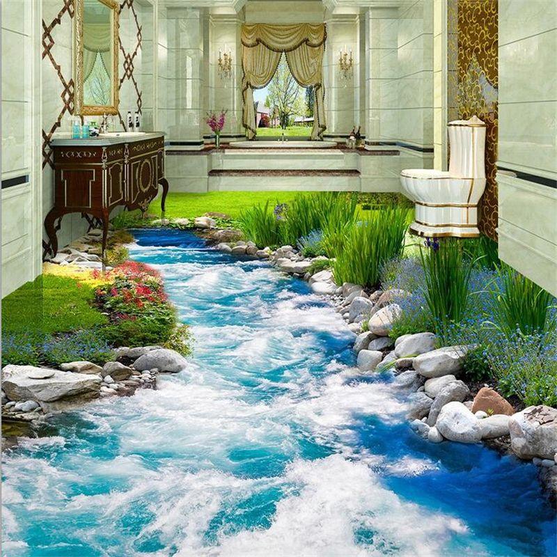 beibehang benutzerdefinierte 3d boden aufkleber gras gras. Black Bedroom Furniture Sets. Home Design Ideas