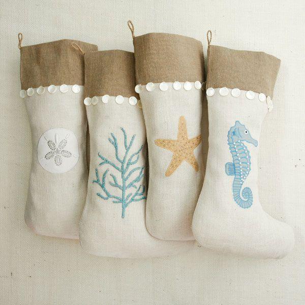 Coastal Christmas stockings